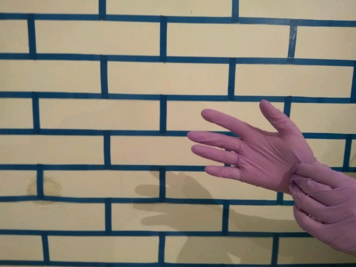 Как из штукатурки сделать кирпичики на стене из штукатурки