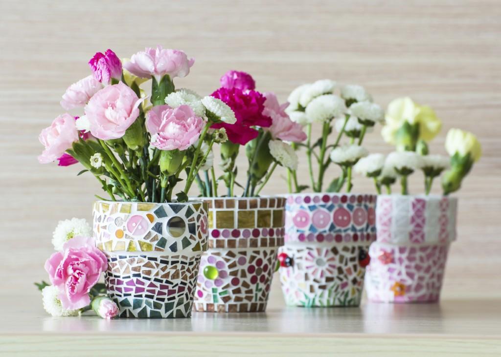 Сделать своими руками горшок для цветов красивый