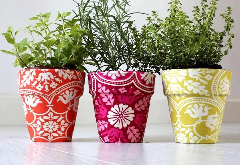 100 лучших идей декора: как украсить горшки для цветов своими