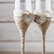 Свадебные бокалы - какие бывают?